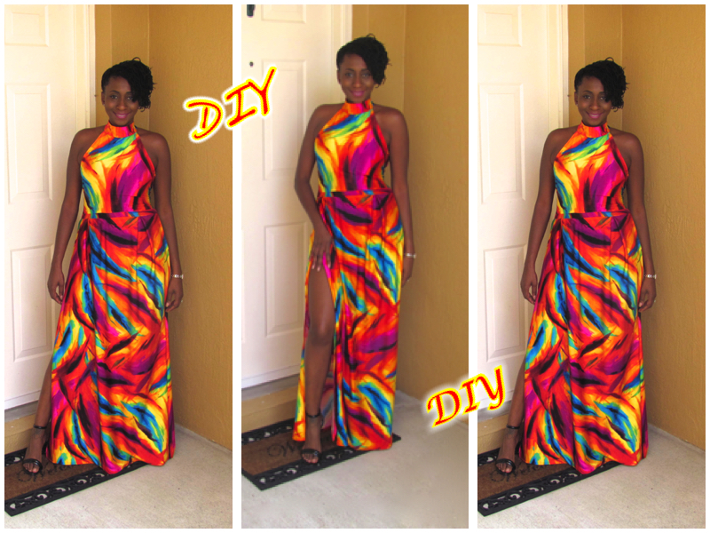 Vibrant Backless Maxi Dress