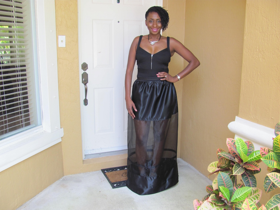 DIY: Sheer Paneled Maxi Skirt