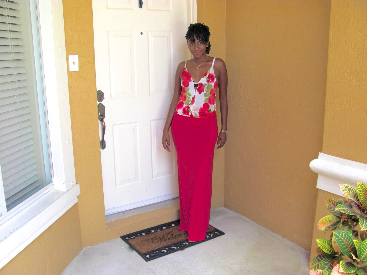 DIY Floral Tank Top and Maxi Skirt with Slit (SuperEASY)