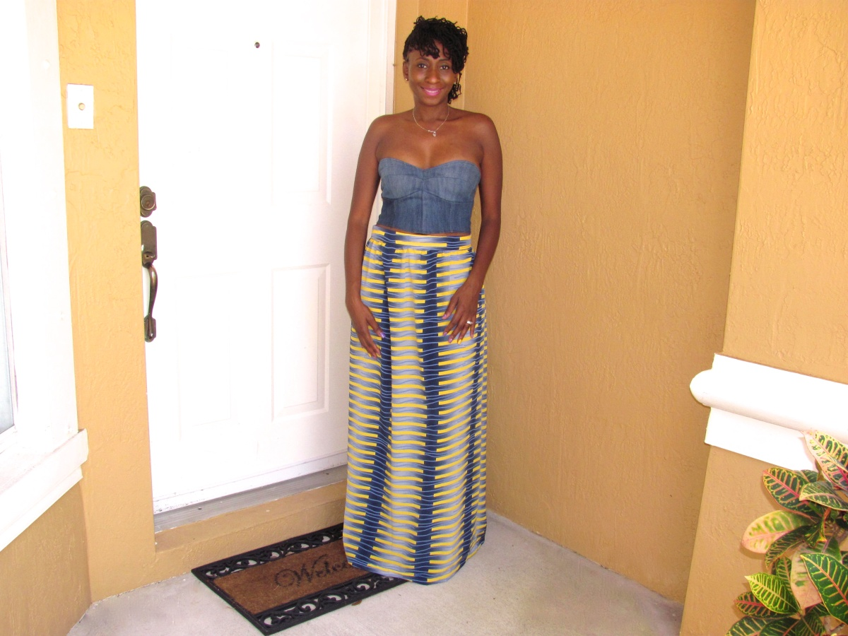 DIY: Printed Maxi Skirt with Zipper (Easy)
