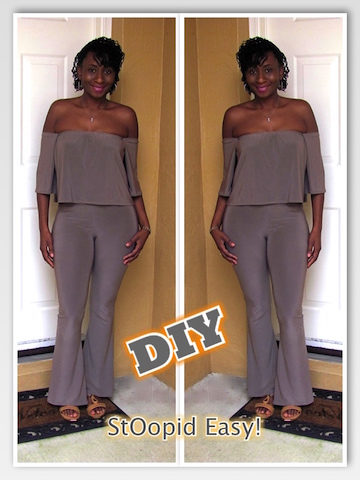 DIY: Off Shoulder Top & Flared Pants (Easy, No Pattern)