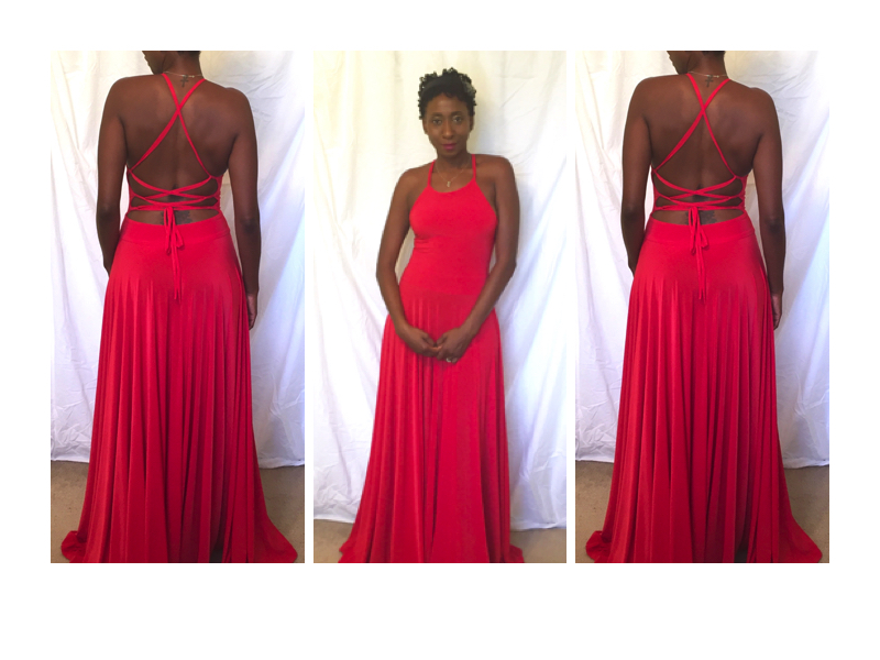 Stunning Strappy Back Circle Maxi Dress